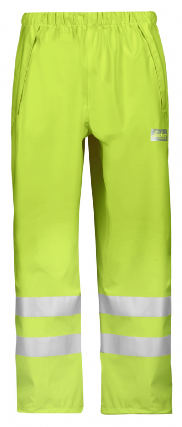 Snickers 8243 High-Vis PU Rain Trousers, Class 2 (High Vis Yellow)